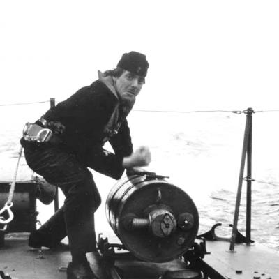 Besättningsman ombord Hugin